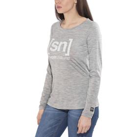 super.natural Essential Graphic - Camiseta de manga larga Mujer - gris